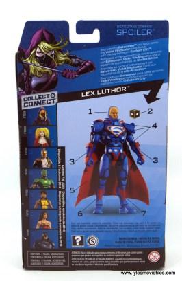DC Multiverse Spoiler figure review -package rear