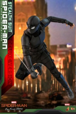 Hot Toys Spider-Man Stealth Suit Figure - moving quickly