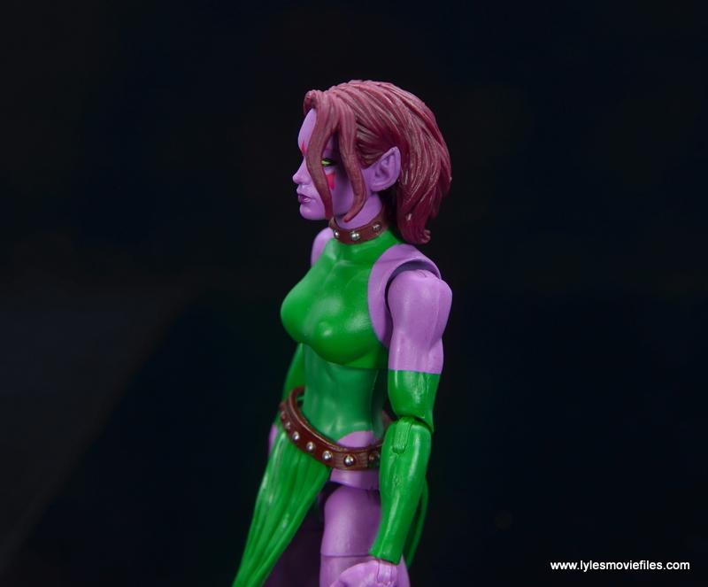 Marvel Legends Blink figure review - close up left side