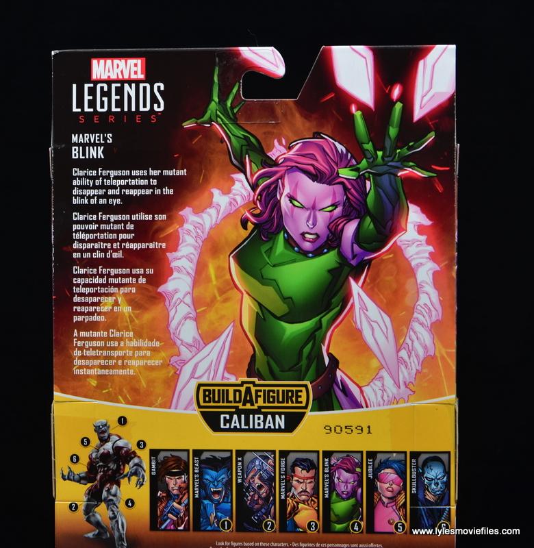 Marvel Legends Blink figure review - package bio