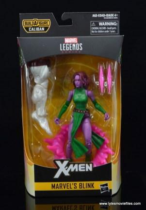 Marvel Legends Blink figure review - package front