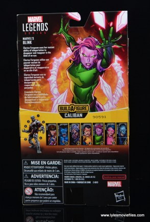 Marvel Legends Blink figure review - package rear