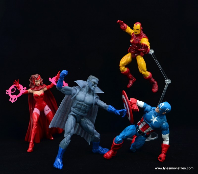 Marvel Legends Grey Gargoyle figure review - vs scarlet witch, iron man and captain america