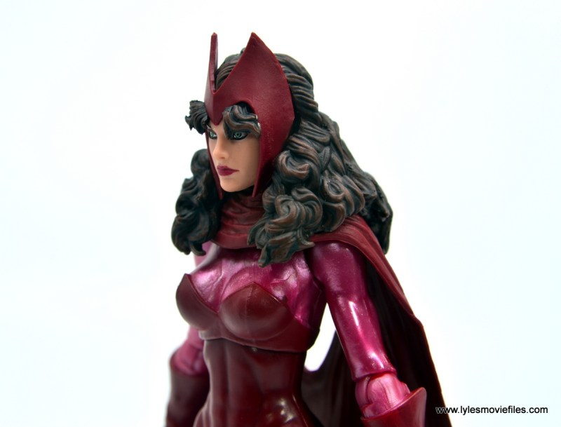 Marvel Legends Magneto, Quicksilver and Scarlet Witch figure review - close up scarlet witch