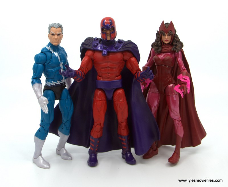 Marvel Legends Magneto, Quicksilver and Scarlet Witch figure review - family matters