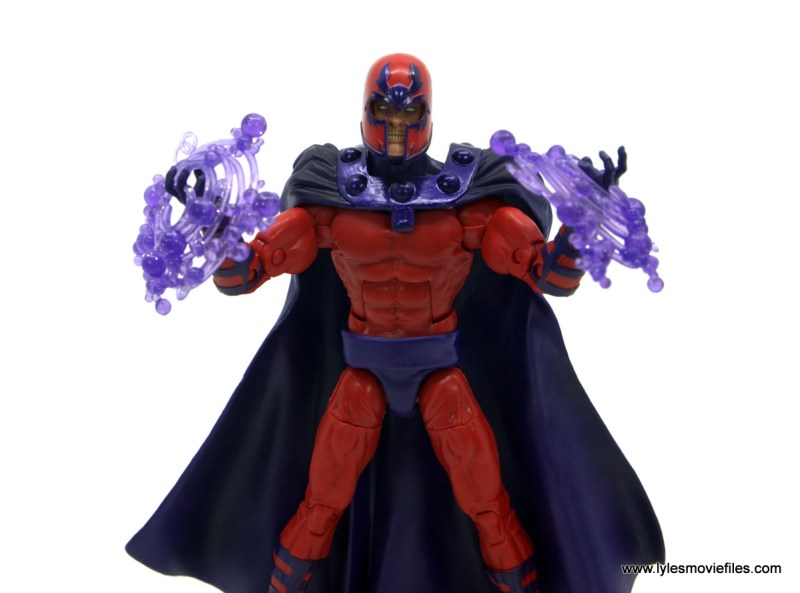 Marvel Legends Magneto, Quicksilver and Scarlet Witch figure review - magneto charged energy effects