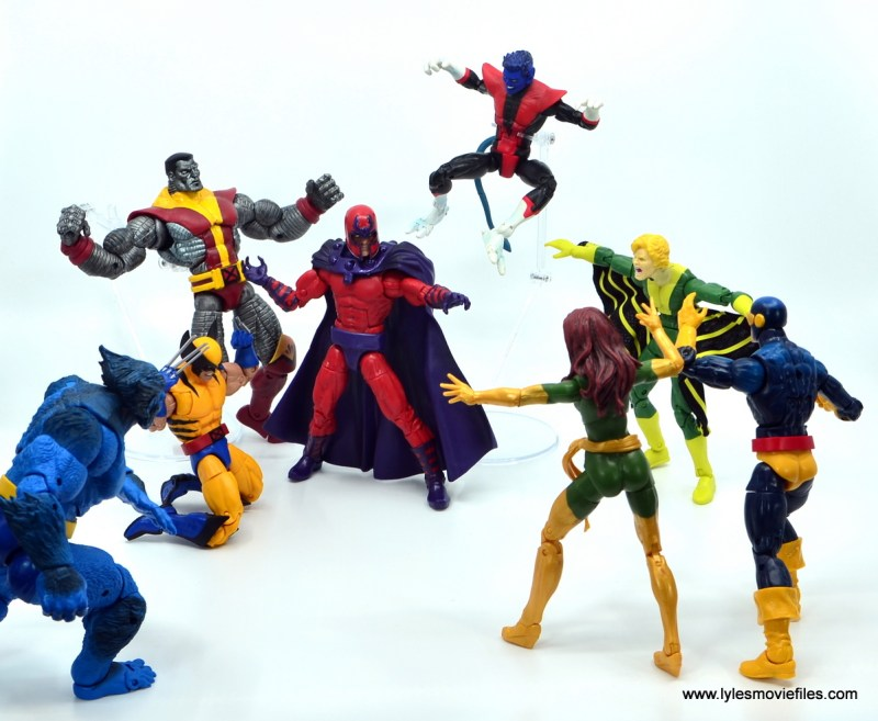 Marvel Legends Magneto, Quicksilver and Scarlet Witch figure review -magneto vs the x-men