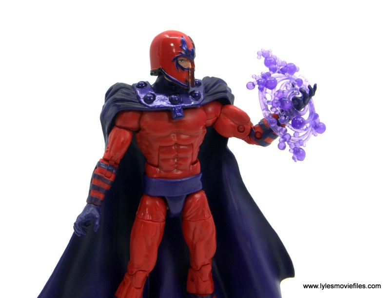 Marvel Legends Magneto, Quicksilver and Scarlet Witch figure review - magneto with power effect