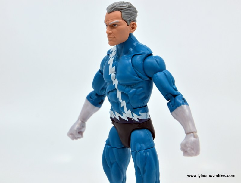 Marvel Legends Magneto, Quicksilver and Scarlet Witch figure review - quicksilver paint detail