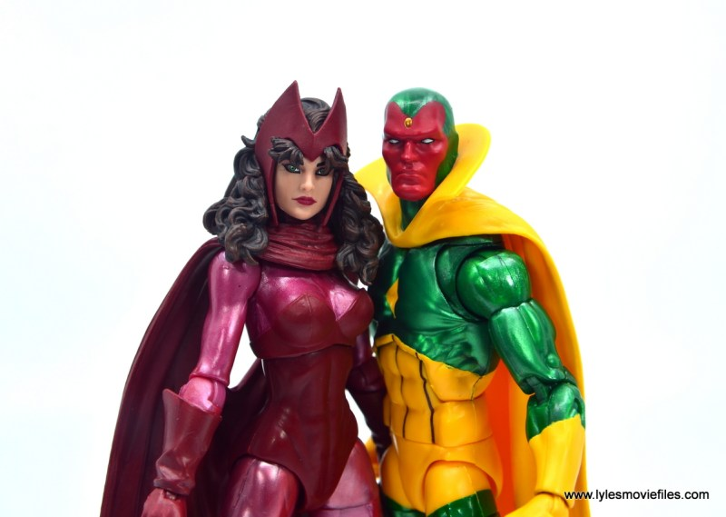 Marvel Legends Magneto, Quicksilver and Scarlet Witch figure review - scarlet witch and vision