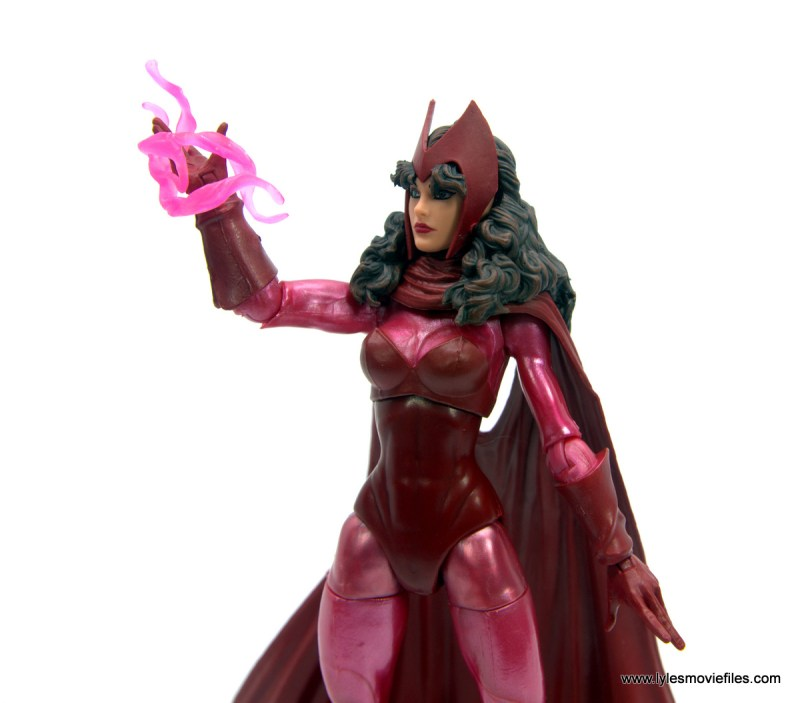 Marvel Legends Magneto, Quicksilver and Scarlet Witch figure review - scarlet witch channeling hex