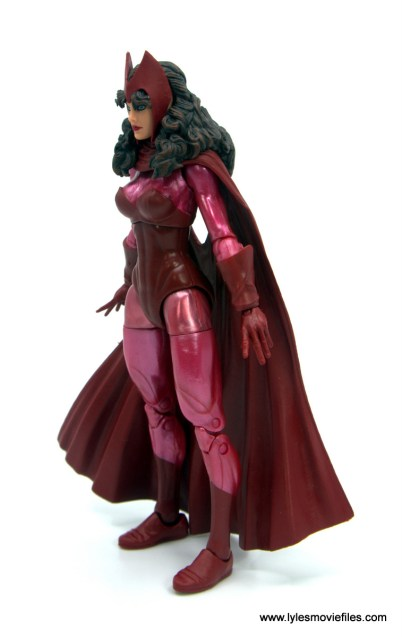 Marvel Legends Magneto, Quicksilver and Scarlet Witch figure review - scarlet witch left side