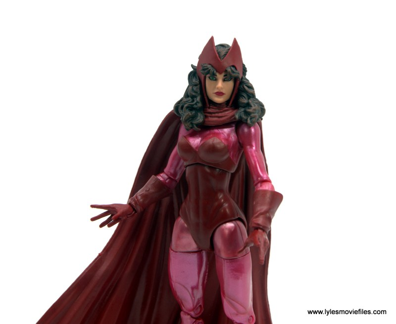Marvel Legends Magneto, Quicksilver and Scarlet Witch figure review - scarlet witch wide