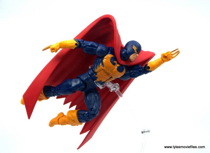 Marvel Legends Nighthawk figure review - flying