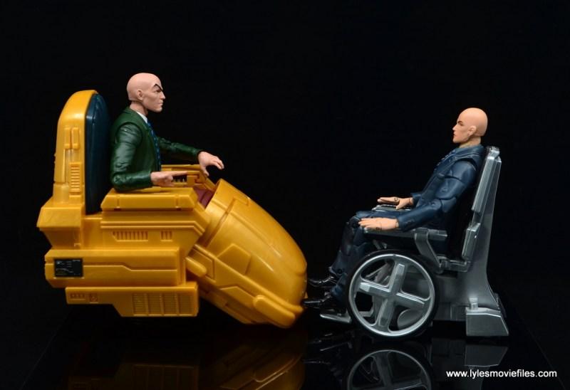 Marvel Legends Professor X figure review - facing toy biz professor xavier