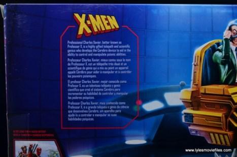 Marvel Legends Professor X figure review - package bio