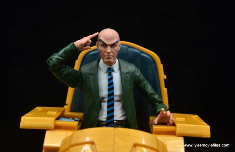 Marvel Legends Professor X figure review - wide shot