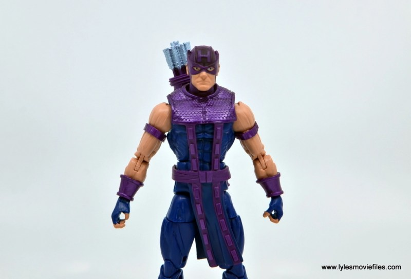 Marvel Legends Retro Hawkeye figure review - wide shot
