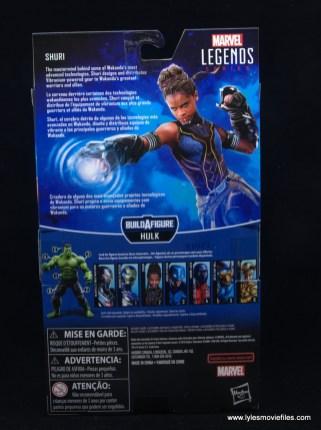 Marvel Legends Shuri figure - package rear