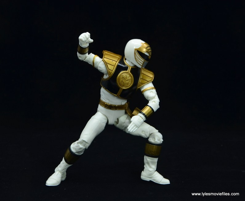 Power Rangers Lightning Collection White Ranger figure review -battle stance