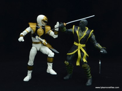 Power Rangers Lightning Collection White Ranger figure review - blocking ronin