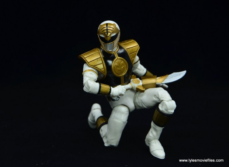 Power Rangers Lightning Collection White Ranger figure review -kneeling with sword