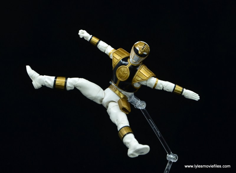 Power Rangers Lightning Collection White Ranger figure review - leaping