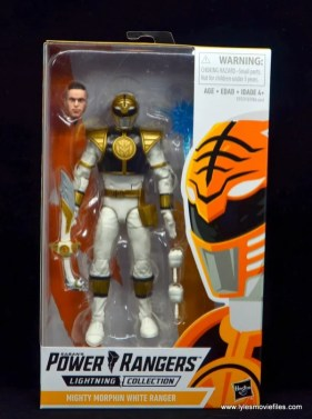 Power Rangers Lightning Collection White Ranger figure review - package front