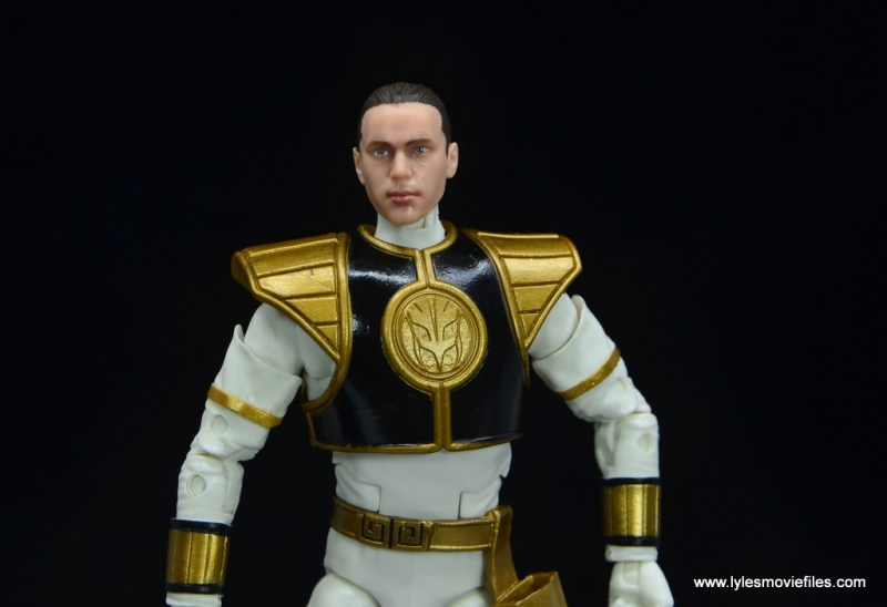 Power Rangers Lightning Collection White Ranger figure review -tommy head close up