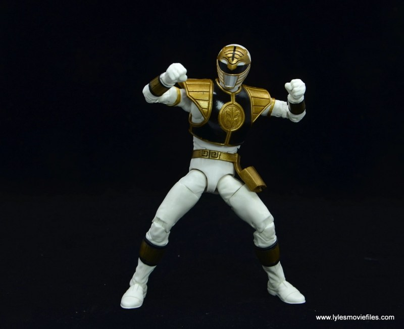 Power Rangers Lightning Collection White Ranger figure review - two fists