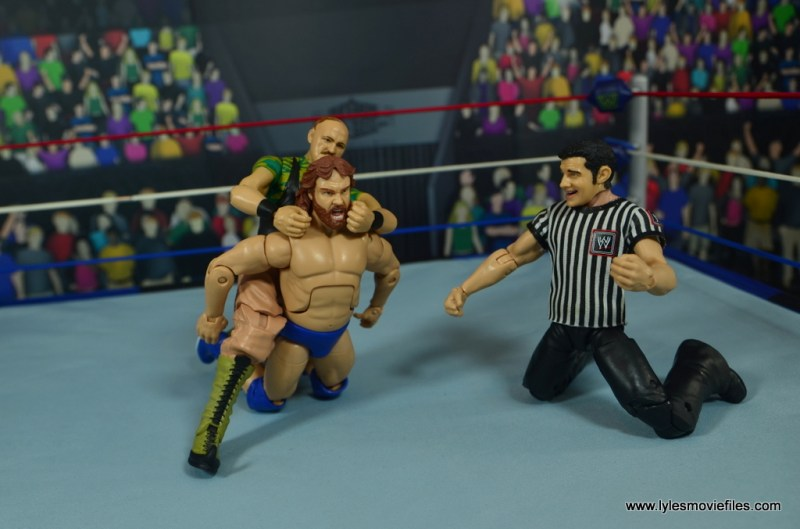 WWE Basic Sgt. Slaughter figure review - camel clutch to hacksaw jim duggan