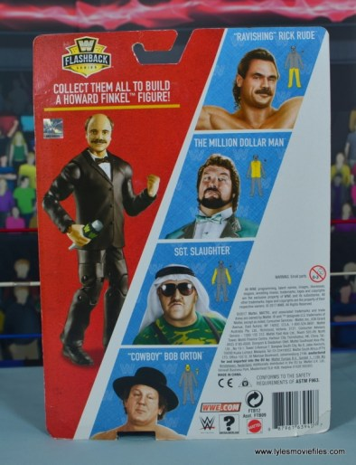 WWE Basic Sgt. Slaughter figure review - package rear