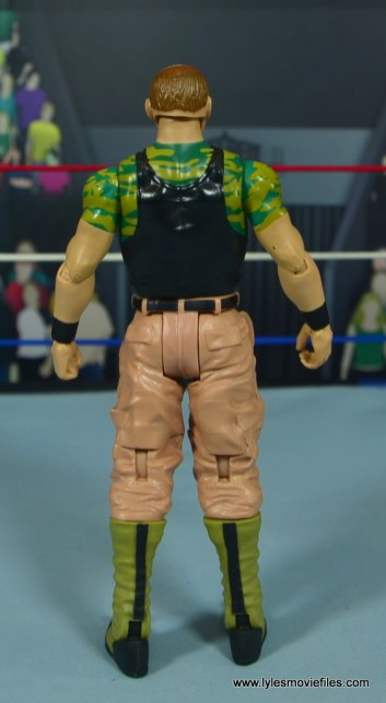 WWE Basic Sgt. Slaughter figure review - rear