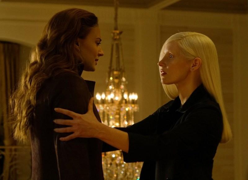 dark phoenix movie review - sophie turner and jessica chastain