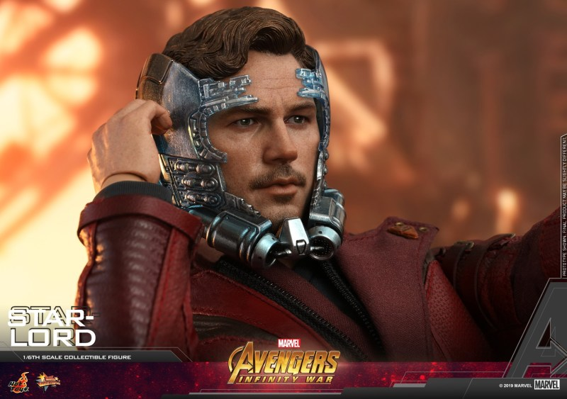 hot toys avengers infinity war star-lord figure -head detail