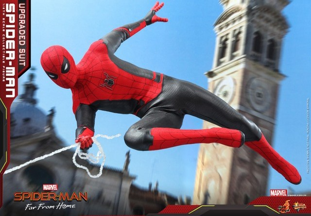hot toys spider-man far from home upgrade suit figure - main pic