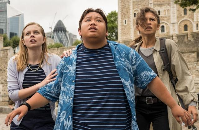 spider-man far from home review - Angourie Rice, Jacob Batalon and zendaya