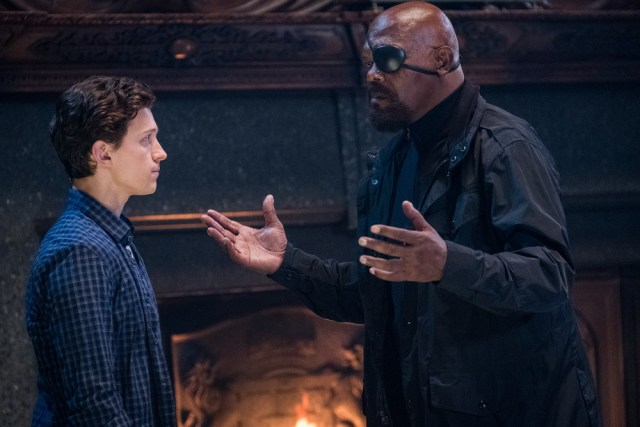 spider-man far from home review - peter parker and nick fury