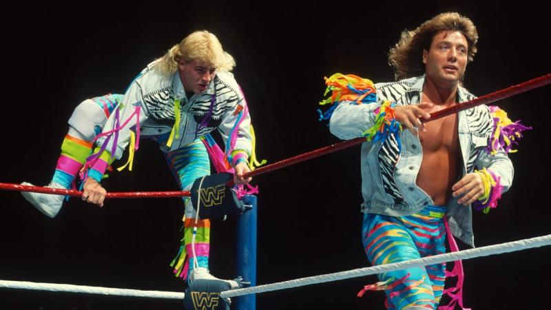 wwf the rockers in blue tights