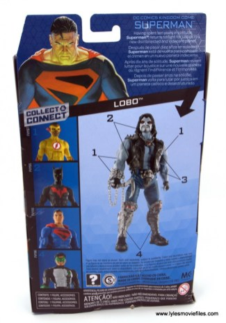 DC Multiverse Kingdom Come Superman figure review - package rear