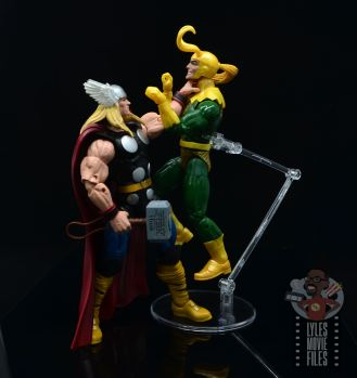 Marvel Legends 80th Thor figure review - choking loki
