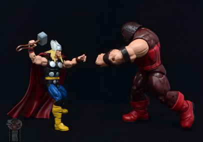 Marvel Legends 80th Thor figure review -facing off with juggernaut