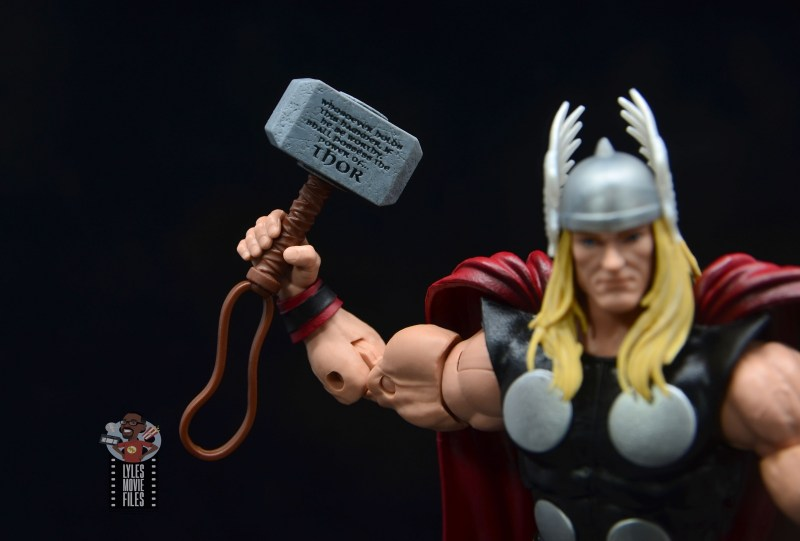 Marvel Legends 80th Thor figure review - mjolnir close up