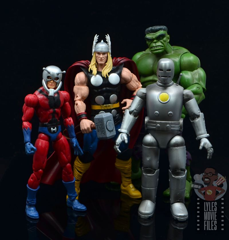 Marvel Legends 80th Thor figure review - with ant-man, iron man and hulk