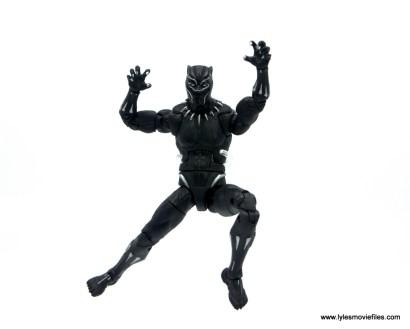 Marvel Legends Black Panther BAF Okoye figure review - leaping