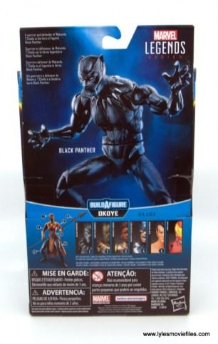 Marvel Legends Black Panther BAF Okoye figure review - package rear