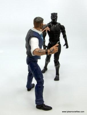 Marvel Legends Black Panther BAF Okoye figure review - stalking klaue