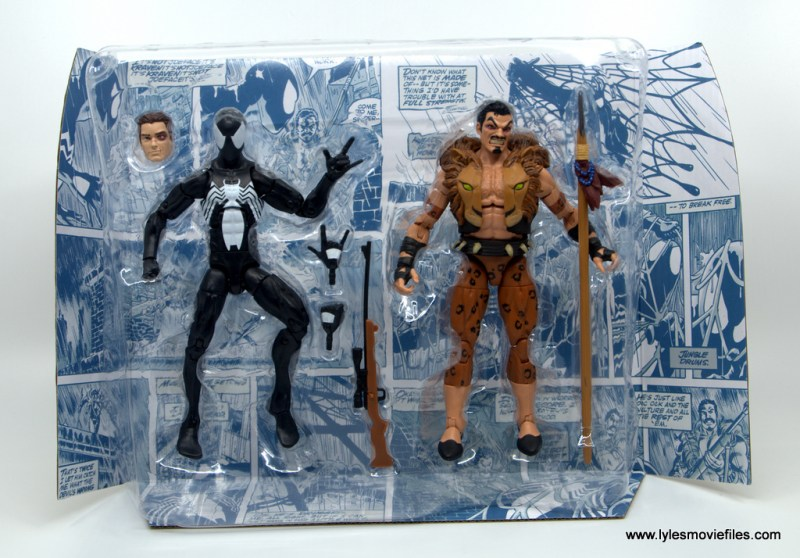 Marvel Legends Kraven and Spider-Man two-pack figure review - accessories and insert