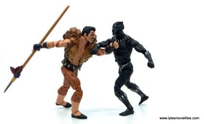 Marvel Legends Kraven and Spider-Man two-pack figure review - kraven vs black panther