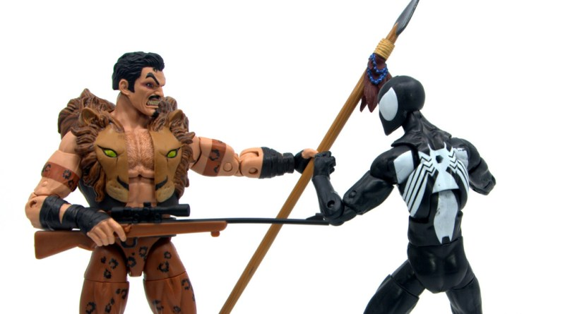 Marvel Legends Kraven and Spider-Man two-pack figure review - main pic